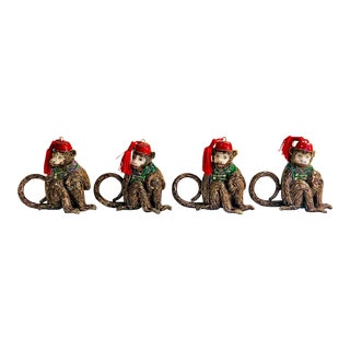 Cloisonne Monkey Napkin Rings-Set of 4 For Sale