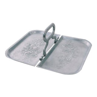 Rose Motif Folding Tray For Sale