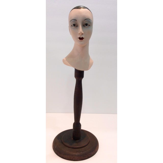 Plaster Mime Bust on Stand - Image 2 of 6