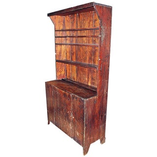 Antique Rustic Country Cupboard For Sale