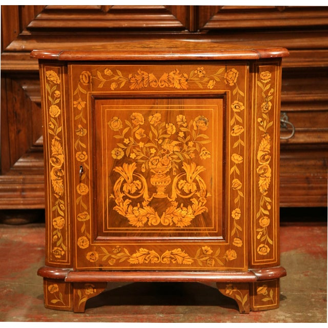 For a beautiful solution to storage in a powder room, look no further than this antique corner cupboard. This piece was...