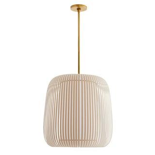 Arteriors Contemporary Tan Wilhelm Pendant Light For Sale