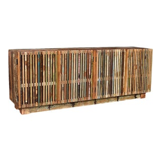Slatted Reclaimed Wood Sideboard