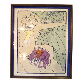 Framed Screen Print by Welch For Sale