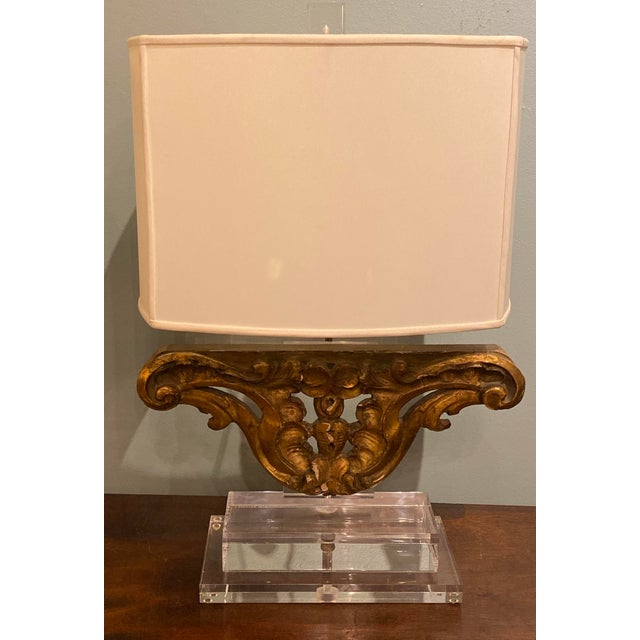 Vintage Gilt Wood Fragment Lamps - a Pair For Sale In Dallas - Image 6 of 7
