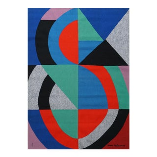 "Hand-Signed Modern Tapestry by Sonia Delaunay - ""Grande Icône"" For Sale"