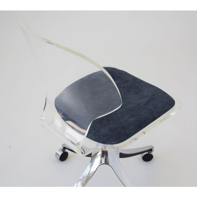 Hill Manufacturing Co. Lucite Rolling Desk Chair - Image 8 of 9