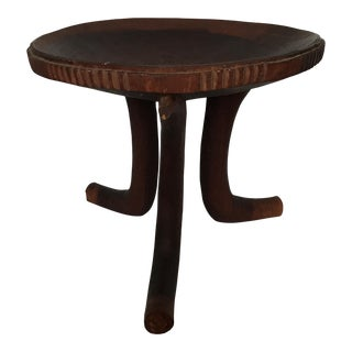 Ethiopian Carved Stool For Sale