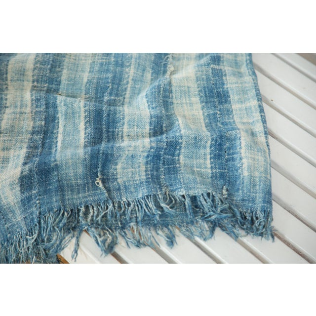 """African Vintage African Textile Throw - 3'4"""" X 5' For Sale - Image 3 of 6"""