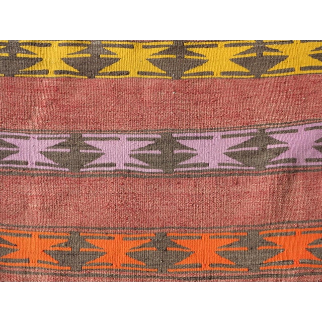 "Vintage Anatolian Handmade Kilim Runner-3'x11'4"" For Sale - Image 11 of 13"