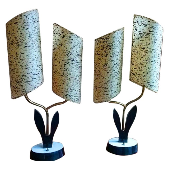 Atomic Lamps by Majestic Lamp Co. - A Pair - Image 1 of 6