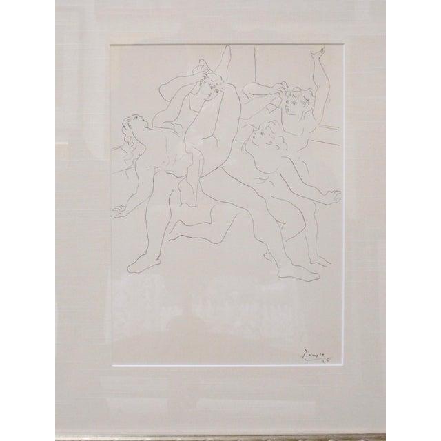 "Pablo Picasso 1940s Vintage Pablo Picasso ""Four Dancers"" Ballet Signed Original Lithograph Print For Sale - Image 4 of 7"