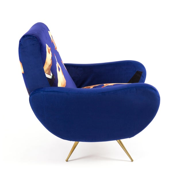 Seletti, Lipsticks Armchair, Blue, Toiletpaper, 2018 For Sale In New York - Image 6 of 7