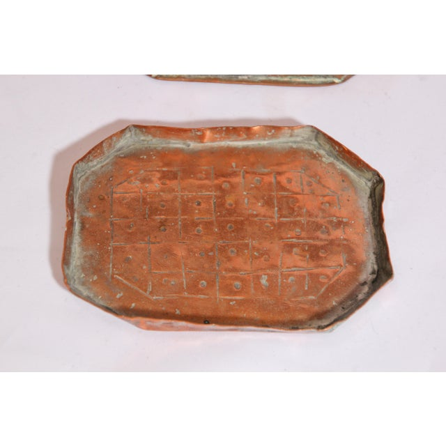 Anglo-Indian Handcrafted Tinned Copper Metal Spices Caddy Box For Sale - Image 10 of 13