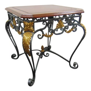Maitland Smith Iron & Brass Side Table For Sale