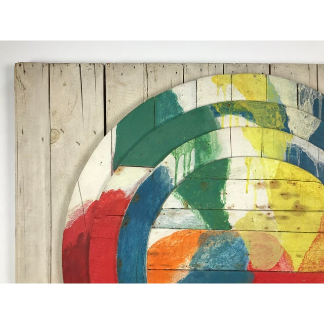 "Large Modernist Abstract Relief ""Sun lI"" Jef Diederen 1965 Acrylic on Wood For Sale - Image 4 of 13"
