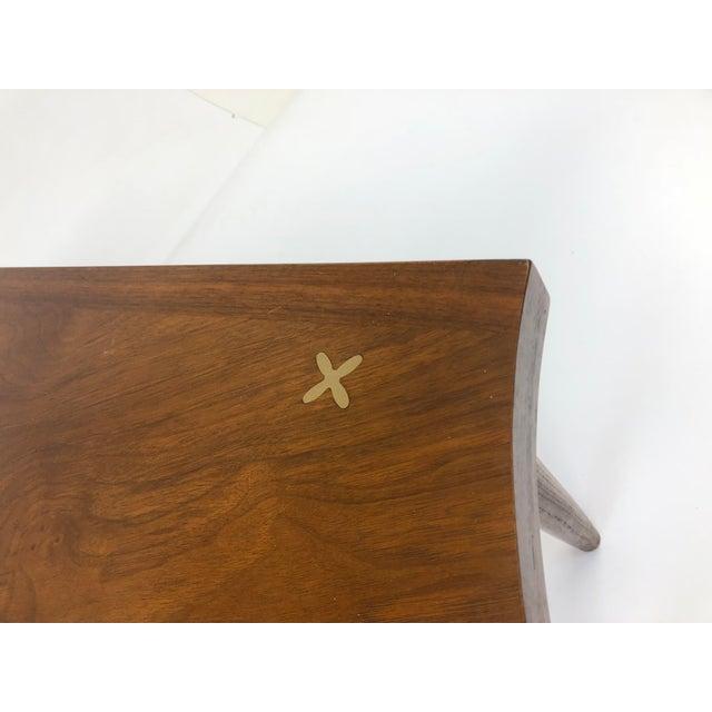 Merton L. Gershun Mid Century Modern Wedge Table - Merton Gershun for American of Martinsville For Sale - Image 4 of 13