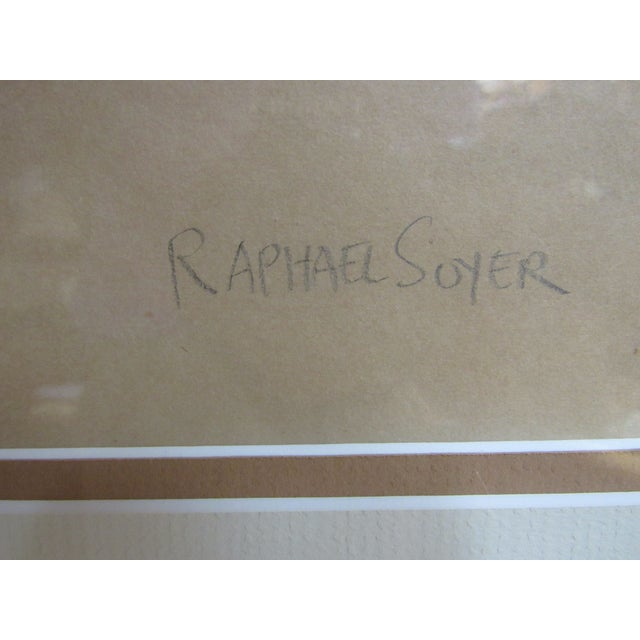 """Wood """"Standing Nude"""" Hand Wash Drawing by Raphael Soyer For Sale - Image 7 of 13"""