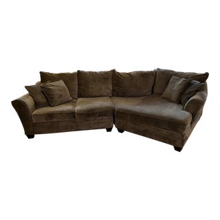 Micro Fiber Angled Sectional For Sale
