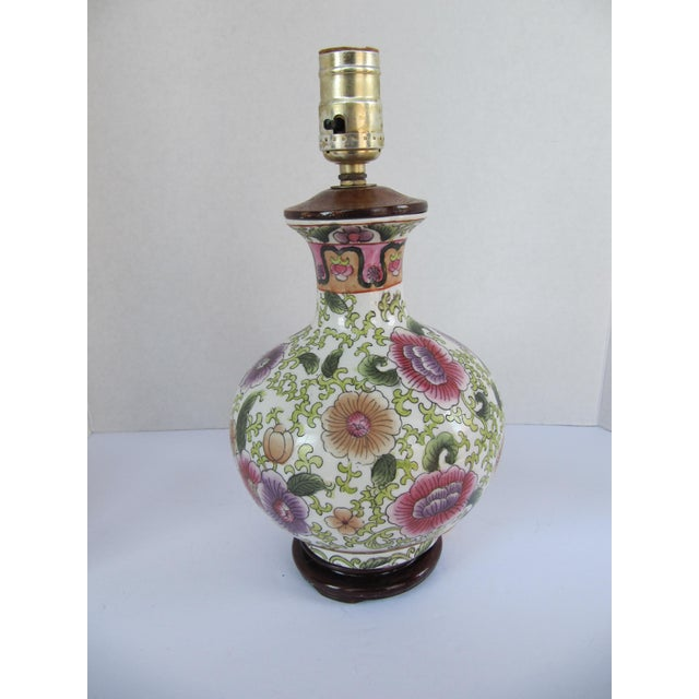 Colorful Chinoiserie Table Lamo For Sale - Image 4 of 4