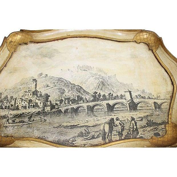 Florentine Scenic Italian Florentine Tray For Sale - Image 4 of 4