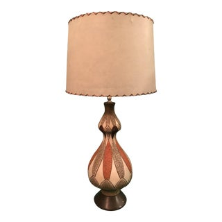 Mid-Century Stucco Table Lamp