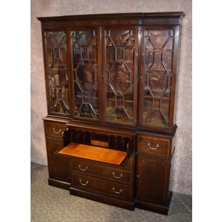 Vintage Stiehl Furniture Traditional Two Piece Inlaid Mahogany China Cabinet Preview