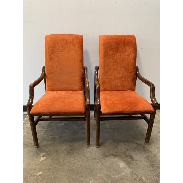 1970s 1970s Vintage Henredon Walnut Dining Chairs- Set of 8 For Sale - Image 5 of 13