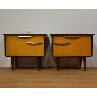 Modern Maple Low Nightstands - A Pair Preview