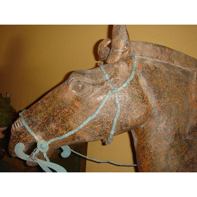 Chinese Life-Size Horse and Warrior - 2 Pc. Set For Sale In Tampa - Image 6 of 8
