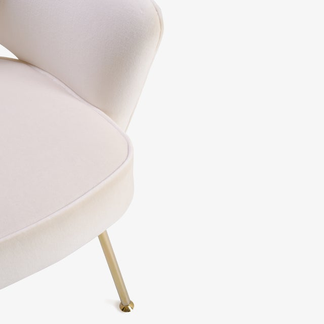 Gold Saarinen Executive Arm Chairs in Crème Velvet, 24k Gold Edition - Set of 6 For Sale - Image 8 of 11