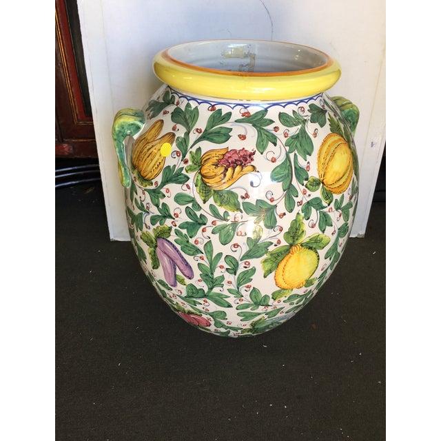 Italian Large Vin Santo Italian Storage Jar For Sale - Image 3 of 7