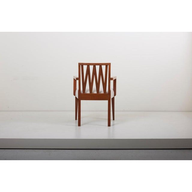1950s Newly Restored Set of 8 Lattice Back Dining Chairs Attributed to Paul T. Frankl For Sale - Image 5 of 13