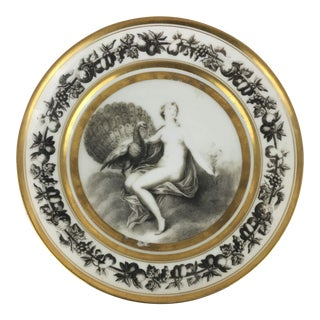 Early 19th Century Antique Stone Coquerel & LeGros French Porcelain Decorative Plate For Sale