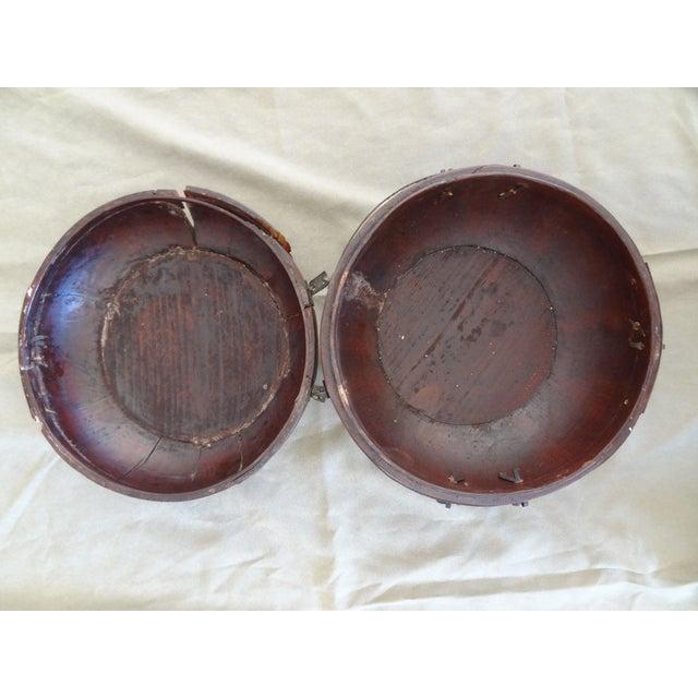 Tibetan Round Wood Box - Image 4 of 10