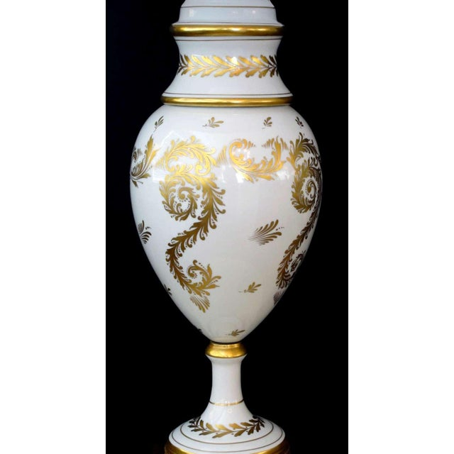 an elegant and good quality American 1950's Blanc de Chine porcelain lamp with gilt decoration; labeled 'Marbro Lamp Co.,...