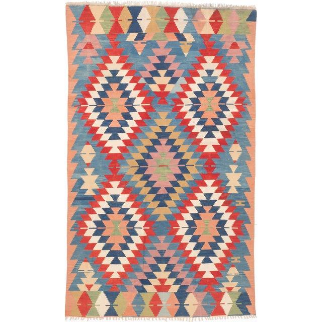Vintage Kashkuli Persian Kilim Rug - 6′8″ × 11′ - Image 1 of 2