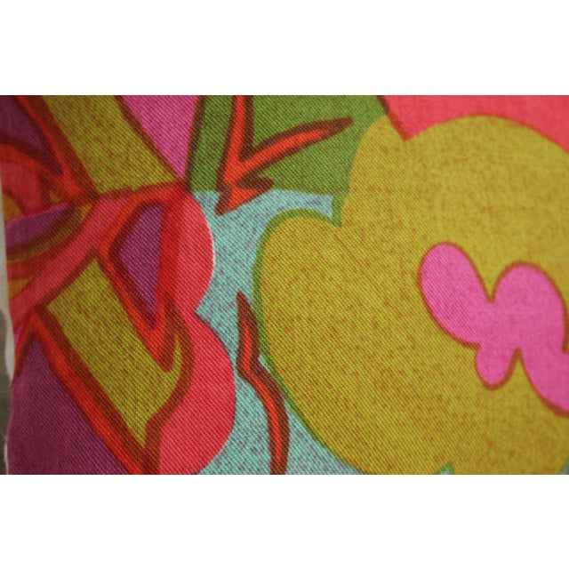 Pink Mid-Century Modern Jack Lenor Larsen Pillow Anthony Ballatore Design Accent Pillow For Sale - Image 8 of 11