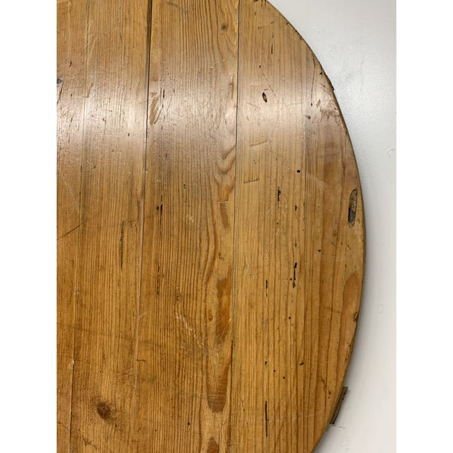 Early 20th Century Early 20th C Antique French Pine Boulangerie Round Breadboard For Sale - Image 5 of 13