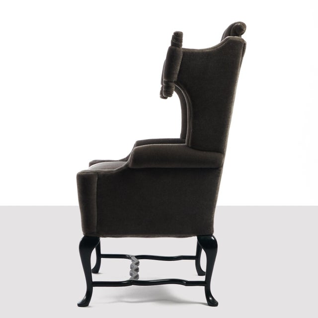 1950s Arturo Pani Wingback Chairs For Sale - Image 5 of 13