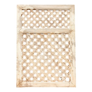 Rustic 19th Century Moorish Star Carved Window Panel For Sale