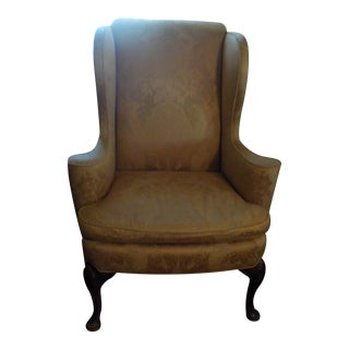 Baker Furniture Wing Back Chair For Sale