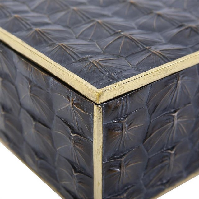 2020s Faux Tortoise Shell Box - Small For Sale - Image 5 of 7
