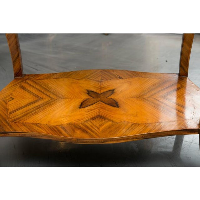 19th Century, Louis XV Style Kingwood Two-Tier Occasional Table For Sale In West Palm - Image 6 of 7