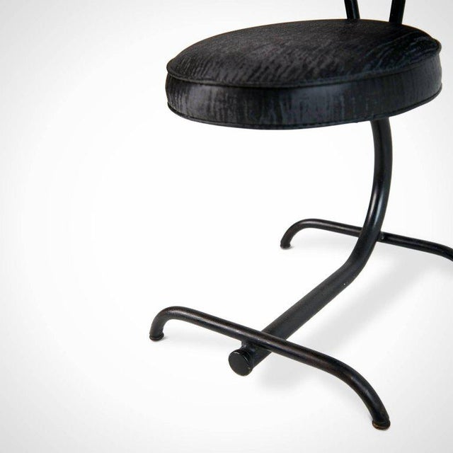 Cantilever Sharkskin Petite Chairs or Stools, Five, Circa 1960 For Sale - Image 9 of 11