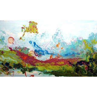 """Kimber Berry """"Liquid Landscape 628-060708"""" Mixed Media Waterscape Painting For Sale"""
