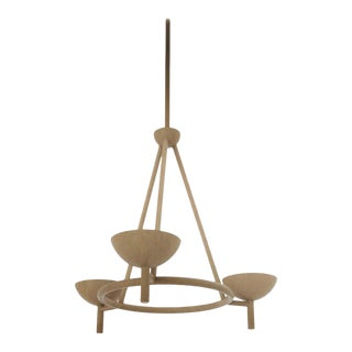 Contemporary 200 Chandelier in Brushed Brass by Orphan Work, 2020 For Sale