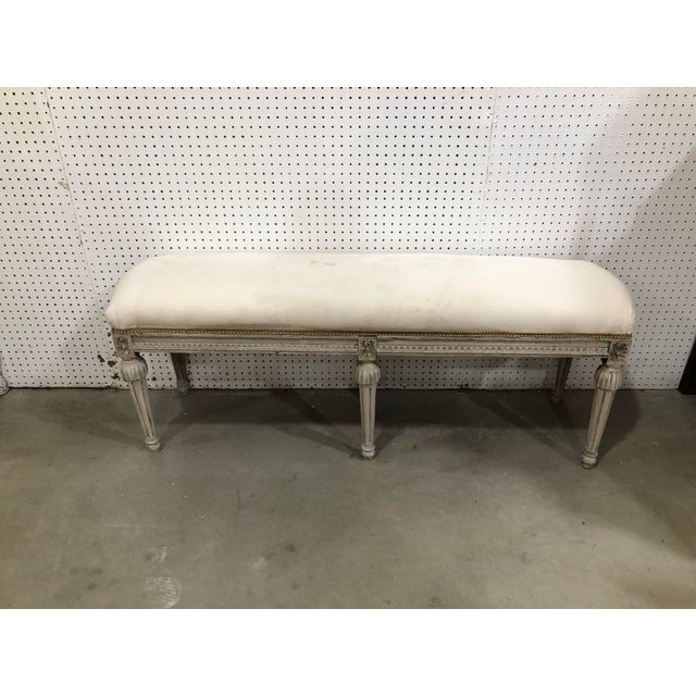 Vintage Country French Bench For Sale - Image 4 of 4