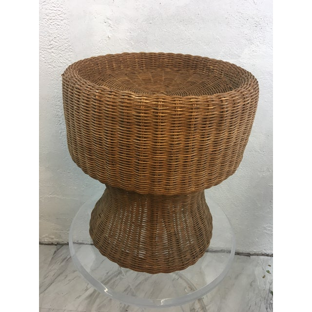 Wicker Vintage Wicker Plant Stand For Sale - Image 7 of 7