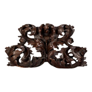 Large Portuguese Oak Carved Architectural Element